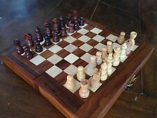Premium Quality Travel Chess Set: 18cm x 18cm Folding board with mini pieces.