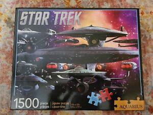 "Star Trek #68-006 1500 piece Aquarius Jigsaw puzzle 33"" x 22"" 2015 puzzle"
