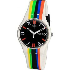 Swatch Men's Ligne De Fuite SUOW708 Multicolor Rubber Fashion Watch
