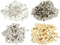 2000pcs 2MM Brass Round Bead Findings Smooth Ball Crimps Beads For DIY Jewelry