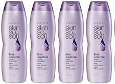 AVON SKIN SO SOFT -Firm & Restore +Babassu Body Lotion {LOT OF 4 BOTTLES}