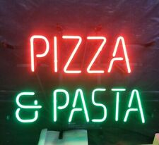 """Pizza & Pasta 17""""x14"""" Neon Sign Light Lamp Beer Bar With Dimmer"""