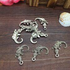 NEW Charm 6pcs Crocodile Tibet Silver Pendant Fit for Bracelet Necklace CJP01