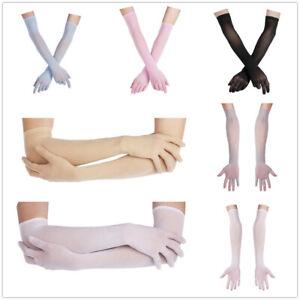 Sexy Women Sheer Long Gloves Arm Opera Wedding Bridal Club Sun Protection