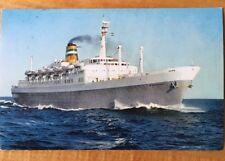 Vintage Holland American Lines SS Statedam Postmarked 1970