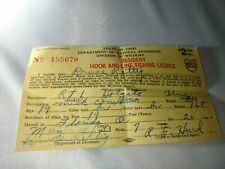Original State of Ohio Dnr 1953 Vintage Fishing License Hook & Line Bruce Rettig