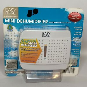 Easy Home Mini Dehumidifier Spaces up to 333 Cubic Feet Drawers Closets Pantries