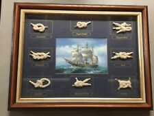 New ListingVintage Sailor Knots Nautical Maritime Framed Shadow Box-Awesome Nautical Decor!