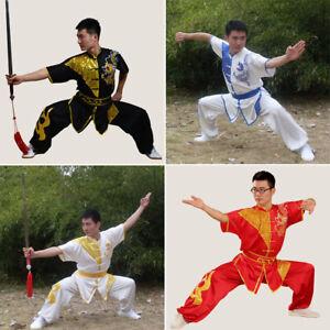 Silk Kung Fu Tai Chi Uniform Martial Arts Suit Wushu Wing Chun Shao Lin Clothes