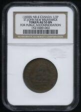 Br. 913 New Brunswick Half Penny Token, 1830 c. - CH NB-4. NGC AU55