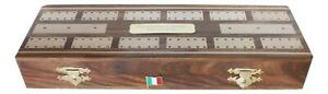 Italian Flag Wooden Cribbage Board with Playing Cards Personalised 483