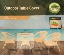 """Hentex Outdoor Patio Furniture Table Cover 3 Layer Fabric - Round 62"""" x 24"""""""