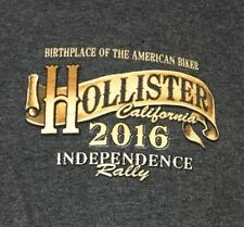 Hollister California Rally 2016 T-Shirt Independence Birthplace American Biker