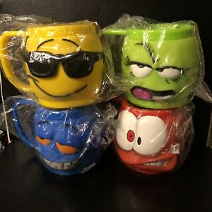 Hungry Jack Face Off 3D Mugs Set Of 4