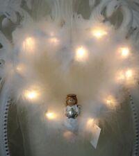 Hanger Decorative Heart & Angel Spring & LED Christmas White Shabby Vintage
