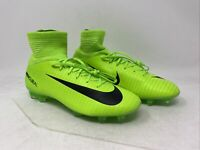 Nike Kids Mercurial Superfly V FG Lime/Black Size 4Y US
