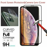 For iPhone 11,11 Pro Max Tempered Glass Screen Protector With Camera Lens Cover