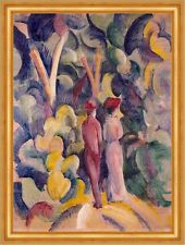 Couple on the Forest Track August Macke Wald Paar Spaziergang Bunt B A3 00725