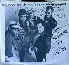 JOE COOL & THE RUMBLERS - WILLIE & HAND JIVE b/w CARA MIA - 45 + AUTOGRAPHED PS
