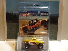 Hot Wheels Off Road Racing Yellow '83 Chevy Silverado Pickup w/Real Riders