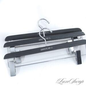 LOT X3 Lafayette 148 Black Composite Silver Hook Clip Pants / Skirt Hangers #3
