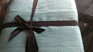West Elm Sari silk  full queen blue teal   Duvet  New with tags small mark.