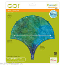 """AccuQuilt GO! Fabric Cutter Cutting Die Clamshell-8"""" Finished 55436 Quilting"""