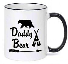 Daddy Bear coffee mug w/ teepee - Fathers day Gift - Birthday Gift  Father