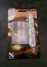 Ruban LED adhésif à pile blanc. 1 mètre.