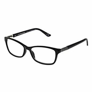 New! Foster Grant Colorred Jules Black 1.50 Reading Glasses W/Soft Case.