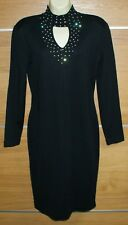 OUTLANDER black wool blend midi dress size M-L
