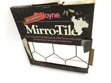 Vintage Mirror Tiles Gold Pattern Hoyne 6 Pack Nos 12x12 Mirror Wall See Photos