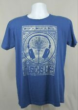 Music is Life graphic T-shirt adult size Medium DJ, band, producer, engineer