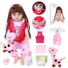 22'' Soft Full Silicone Body Reborn Baby Doll Toys Vinyl Princess Toddler Baby