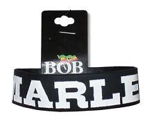 Bob Marley Stripes Black Rubber Wristband New Official Reggae Rasta Music