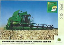 Farm Combine Brochure - John Deere - 9880 STS - FRENCH - c2002 (F4785)