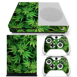 Mariguana Weed Skin Decal Sticker SET FOR XBOX ONE S Console &2 Controllers
