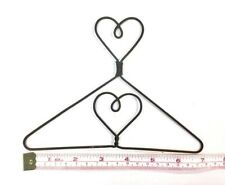 "6X  Wire Quilt Hanger  7"" x 5"" High  ""Heart on Top & in Centre"" Theme"
