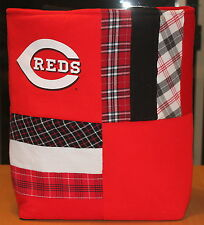 Cincinnati Reds Baseball Quilted T-Shirt Tote Bag, Handmade, Upcycled, New
