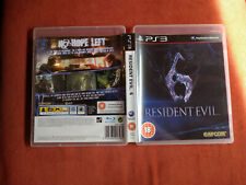 PS3 RESIDENT EVIL 6 PAL playstation USATO USED