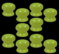 Pack Of 10 x 35mm Green Porcelain Ceramic Cupboard Cabinet Drawer Door Knobs