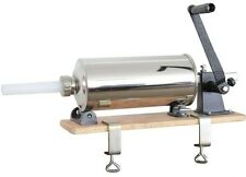 NEU Wurstfüllmaschine Manuell Holzplatte 4L verschiedene Tubengrößen Wurst Maker