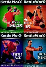 KETTLEWORX (KETTLEWORKS)  KETTLEBELL 4 DVD SET NEW SEALED WORKOUTS EXERCISE