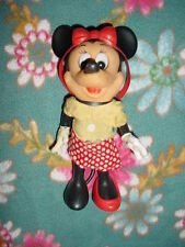 """Vtg-8""""-Walt Disney Minnie Mouse-Red-Moveable arms-legs Figurine Figure Toy Doll"""