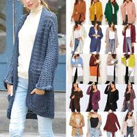 Women Lady Long Sleeve Knitted Cardigan Sweater Outwears Coat Jacket Multi Style