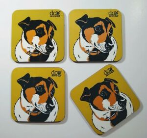 Jack Russell - set of 4 coasters with original illustration.