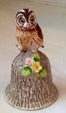 VINTAGE Towle Bisque Bone China OWL Bell Part of a collection Mint Condition 4.5