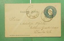 DR WHO 1899 ARGENTINA BUENOS AIRES POSTAL CARD TO GESSLER  g10402