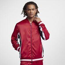 187612d1b637 Air Jordan Satin Track Jacket Retro 1 I Wings Red Black White Aq0938-687 2xl