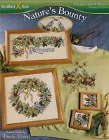NATURE'S BOUNTY CROSS STITCH Patterns Bird Wreath ~ NEW